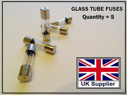Quick Fast Blow Glass Tube Fuse 8 Amp FUSES  5x20mm 8 Amp // 250 Volt