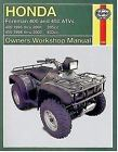 Haynes Manuals: Honda Foreman Trx400/450 Shaft Drive Atvs 1995 Thru 2002 by Alan Ahlstrand (2003, Paperback)