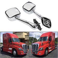 Freightliner Cascadia Truck Hood Mirror Set Chrome A22-66565-003 A22-66565-002