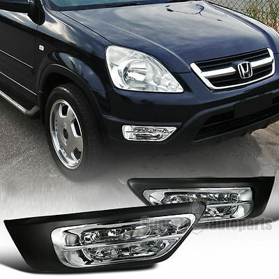 details about fit 2002-2004 honda crv cr-v clear fog lights driving bumper  lamp+switch