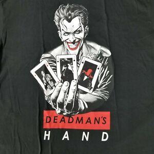 Joker-Men-039-s-Small-T-Shirt-Deadman-039-s-Hand-Licensed-DC-Comics-Movie-Poker-Cards