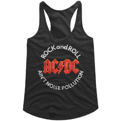 ACDC Rock n Roll Ain/'t Noise Pollution Women/'s Tank Top Album Band Concert Merch