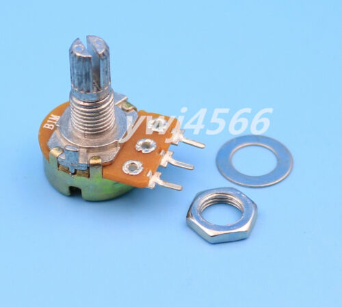 50Pcs B1M  1M  Ohm Linear Taper MINI Potentiometer Pot 15mm 3Pin