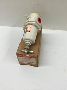 "2PC LOT ARO USA Pneumatic Air Tool Hose 1/4"" NPT Regulator 27222 Steel Housing"