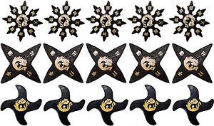 Set of 15 Ninja Rubber Throwing Stars Practice Foam Shuriken New - 15 Pack