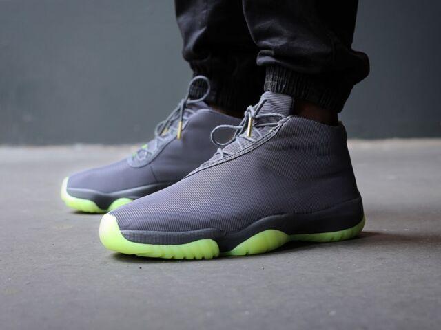 Mens Nike Air Jordan Future Footscape Sneakers New, Grey / Volt 656503-025