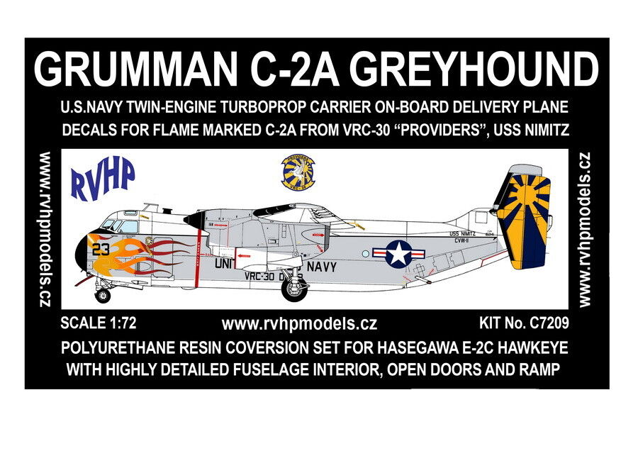 RVHP Models 1 72 Grumman C-2 Greyhound Conversion Set - VRC-30 Providers