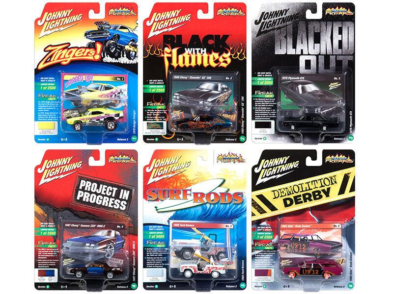 Street Freaks 2018 Release 2 Set B of 6 6 6 Cars 1 64 Diecast Models by Johnny Light bd6f19