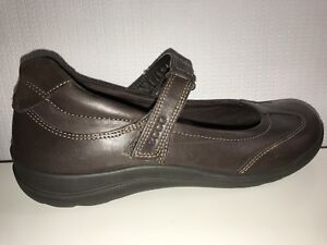 34d9146fecb ECCO Brown Leather Mary Jane Loafers EUR 37 Women s US Sz. 6-6.5