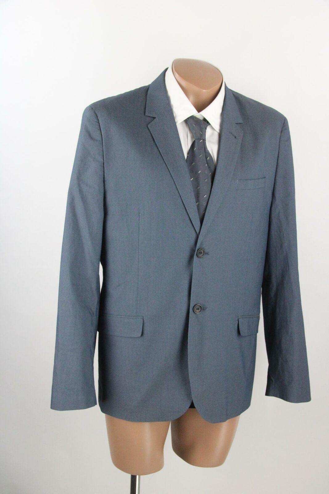 H&M blaues Zwei-Knopf-Sakko Gr.52/L Baumwollmischung Top Zustand