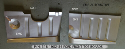 Ford 1952-1954 #318L//318R Mercury Front Floor Pan Toe Board SET Left+Right