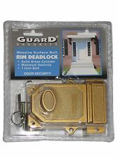 Guard Security Massive Surface Bolt Rim Deadlock Solid Brass With key entry #606