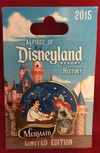 Disney-Piece-of-History-2015-Pin-ARIEL-ERIC-KISS-GIRL-Little-Mermaid-POH-LE-2000