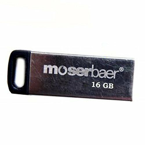 Moserbaer Atom16GB Grey Colour Metal PenDrive
