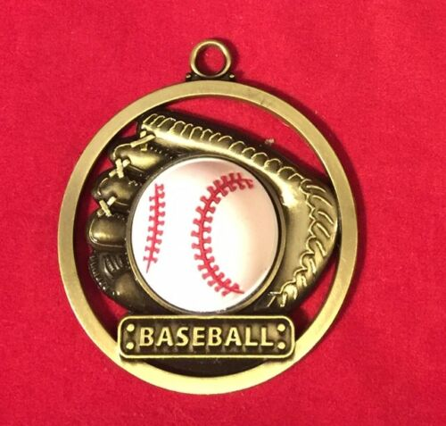 BASEBALL 3-D RUBBER IMAGE CHRISTMAS ORNAMENT PERSONALIZED FREE SHIP