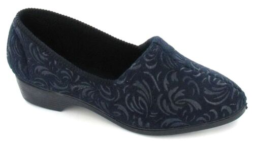 Ladies Lady Love Slip On Slippers Cora Navy