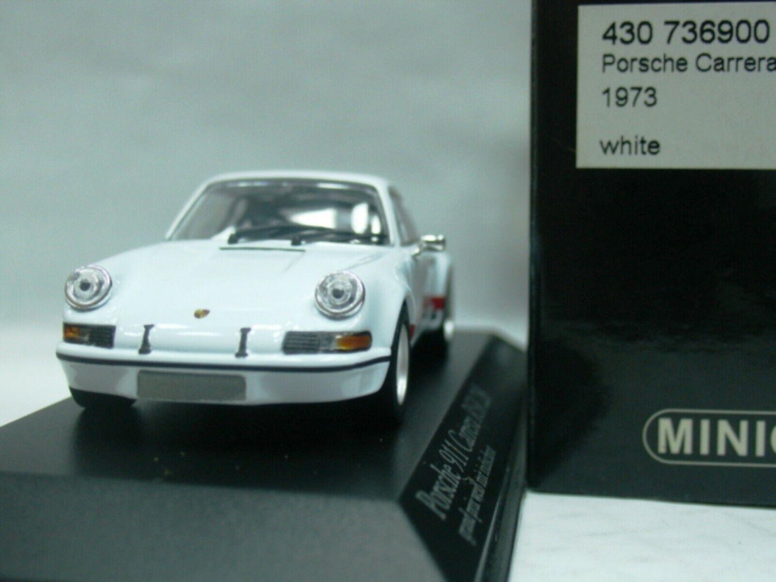 Wow extremamujerte raro Porsche 911 RSR 2.8 blancooo rojo 1973 1 43 Minichamps-Spark-GT2