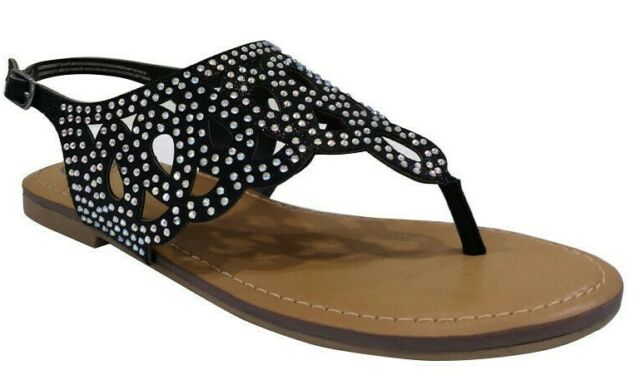 Silver Black Sparkles Flip Flop