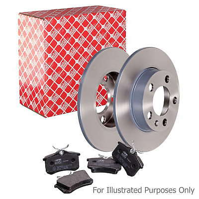 Genuine OE Quality Febi Rear Solid Brake Disc & Pad Kit