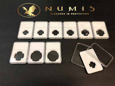 NUMIS 1 Single Protective Coin Holder Slabs In WHITE 38mm Graded Case NGC