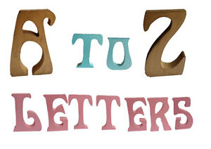 Colourful-Craft-Letters-Creative-Alphabet-4-034-Free-Standing-A-Z-Gold-Pink-Blue