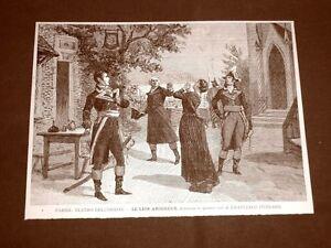 Parigi-nel-1887-Teatro-dell-039-Odeon-Le-Lion-Amoureux-Opera-di-Ponsard-Francia