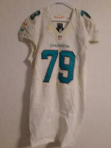 Details about 2013 Miami Dolphins Photomatched Derrick Shelby white Game Worn/Used Jersey LOA
