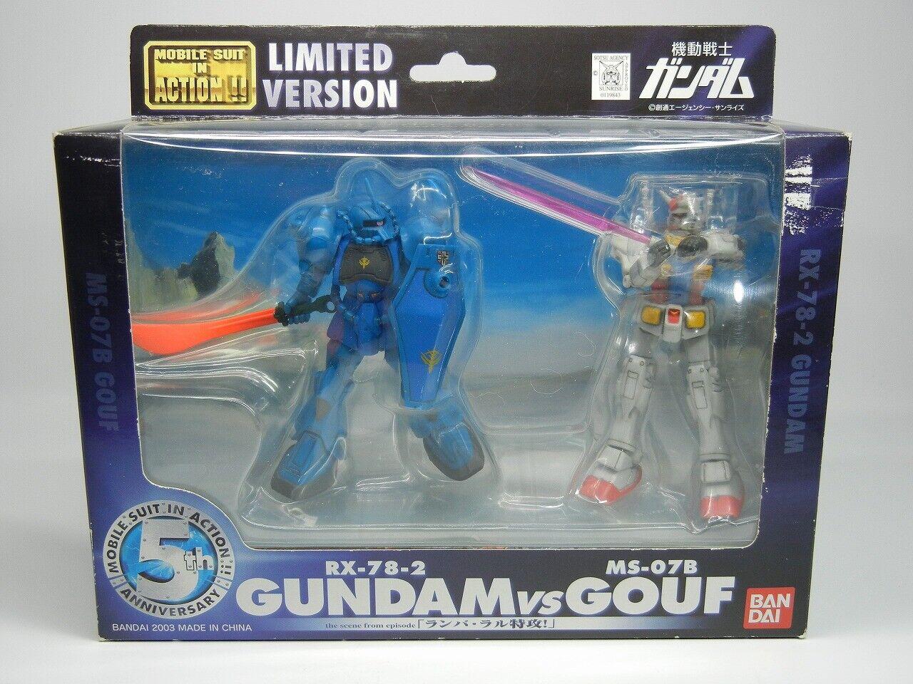MSIA 5th Anniversary  Limited   RX-78-2 Gundam vs MS-07B Gouf   cifra Beai  benvenuto a scegliere
