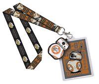 Funko Disney Star Wars Bb-8 Lanyard Id Badge Holder Bb8 Rubber Charm Official
