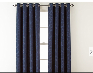 Image Is Loading JCPenney Home Quinn Leaf Grommet Top Curtain Window