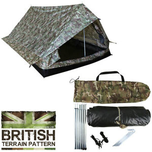Combat-Trooper-2-Person-Military-Lightweight-Dome-Tent-BTP-Camo-Camouflage-New