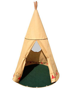 xxl tipi f r kinder 190cm gro wigwam indianer zelt pop up. Black Bedroom Furniture Sets. Home Design Ideas