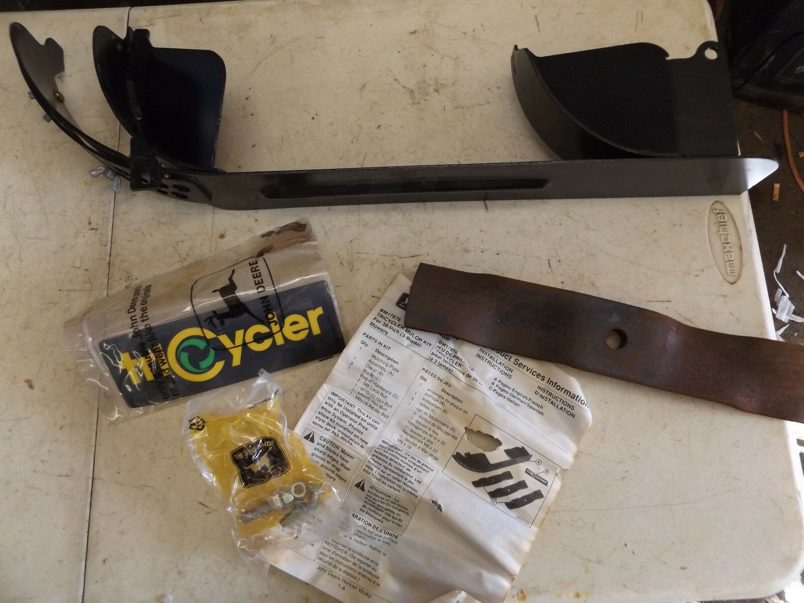 John Deere tricycler mantillo Kit BM 17876 38  3  3 cortadoras de hoja