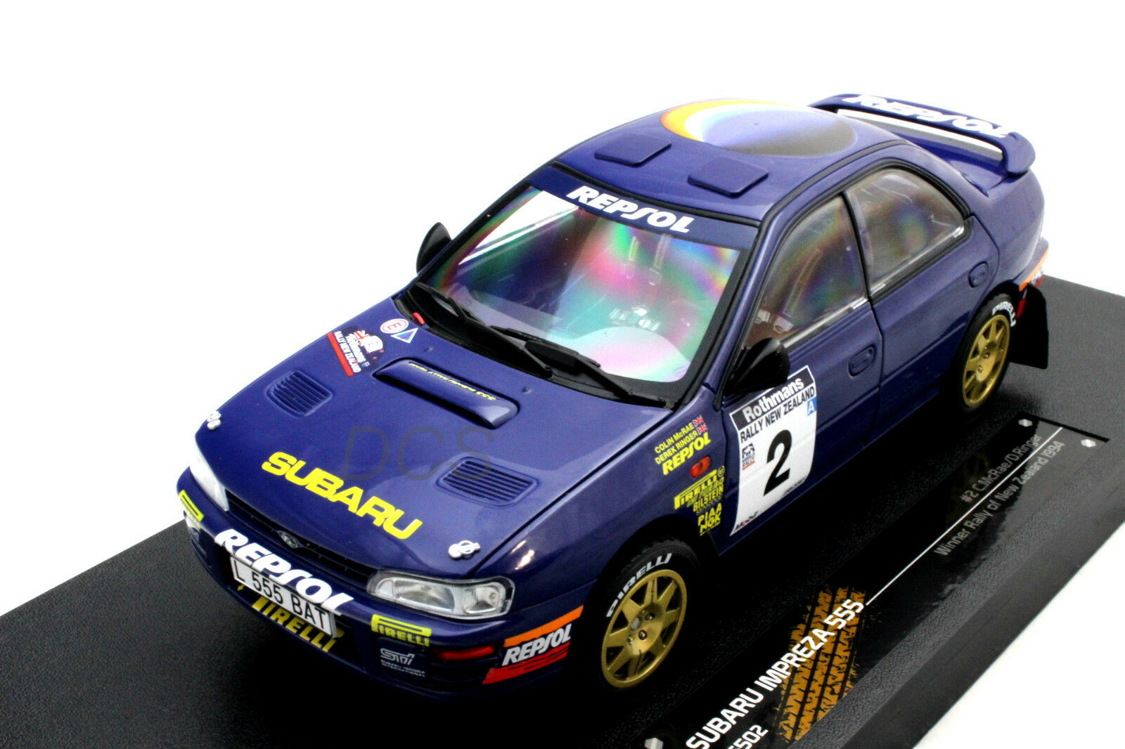 SUNSTAR SUBARU IMPREZA 555 WINNER RALLY OF NEW ZEALAND 1994 1 18 blueE 5502