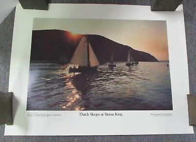 Storm King on the Hudson by Samuel Colman River Boat 8x10 Print Picture 1741