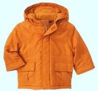 Gymboree Winter Moose 2t-3t 2-3 Solid Burnt Orange Fleece Lined Hooded Coat