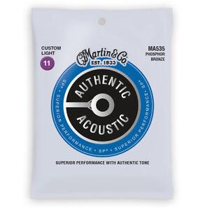 Martin-Authentic-SP-Phosphor-Bronze-Acoustic-Guitar-Strings-Custom-Light-MA535