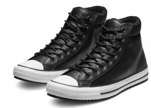 Details zu Converse Chuck Taylor All Star Leder Hi Schuhe Sneaker Stiefel 162415C (Schwarz)