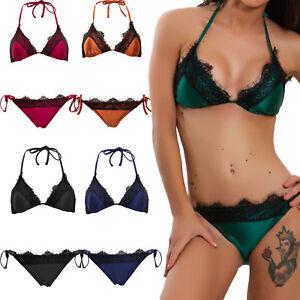 b27d1df5b4ba Caricamento dell'immagine in corso Bikini-donna-costume -da-bagno-mare-imbottito-PIZZO-