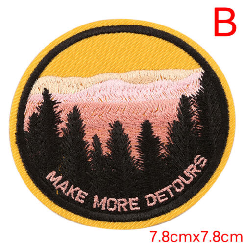 Embroidery Sew Iron  Patch Badge Transfer Fabric Bag Jeans Applique Craft DIHFCA