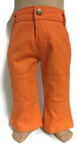 Orange Pants with Pockets made for 18 inch American Girl Doll Clothes