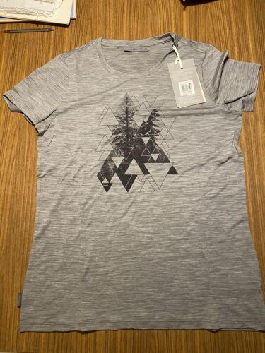 Icebreaker Merino Womens T-Shirt Grey Sz L New With Tags