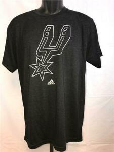 New San Antonio Spurs Mens Size Medium M Black Adidas Shirt MSRP