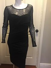 White House Black Market Dress W/ Sleeves 12 NWT $170 Size L Ultra Slimming