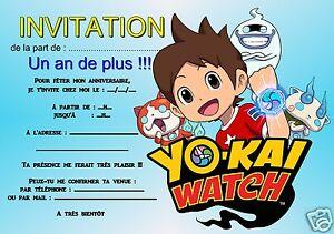 Carte Anniversaire Yokai.Details Sur 5 12 Ou 14 Cartes Invitation Anniversaire Yo Kai Watch Ref 351