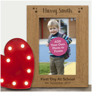 First-1st-Day-at-School-PERSONALISED-ENGRAVED-Photo-Frame-Keepsake-Nursery-Gifts