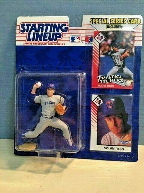 1993 Starting Lineup Texas Rangers Hall Of Fame Pitcher Nolan Ryan NIP