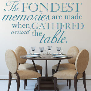 The Fondest Memories Wall Sticker Family Quotes Wall Decal Kitchen