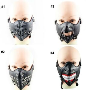 Skull Spike Rivet Stud Motorcycle Face Mask For Biker Outdoor Sports Halloween Ebay