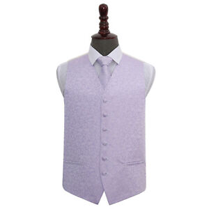 Tie amp; Lilac Set Swirl Mens Waistcoat Dqt Woven Patterned Wedding xZqfBwf